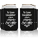 NeeNoNex To Love Laughter And Happily Ever After Insulated Can Coolie Coolers (24 Pack)