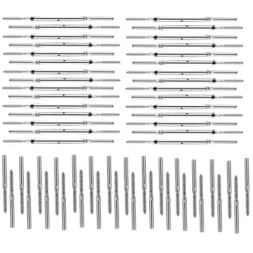 3//16 Cable Patio Rail for Aluminum or Wood Posts DIY Balustrade Professional Cable Railing 50 Pack Marine Grade T316 Stainless Steel 30 Degree Beveled Washer for 1//8 5//32 50 Pcs