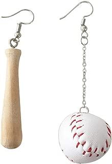 YOUSIKE Sportswear Wood Drop Earrings Asymmetric Baseball Bat Earrings Fashion Jewelry