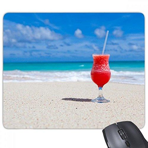 Ocean zand strand watermeloen sap foto rechthoek anti-slip rubber muismat spel muismat cadeau