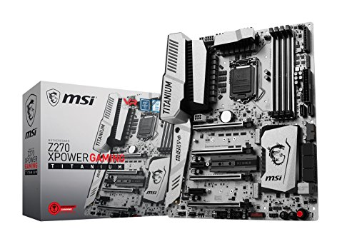MSI Enthusiastic Gaming Intel Z270 DDR4 VR Ready HDMI USB 3 ATX Motherboard (Z270 XPOWER GAMING TITANIUM)