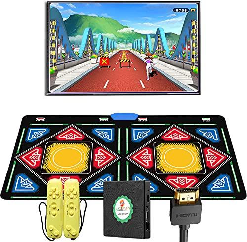 KAXIMON Tapis de danse pour enfants, double tapis de danse pour TV avec port HDMI, équipé d