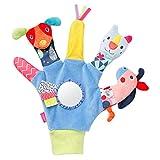 Fehn 055429 - Guanto da gioco Color Friends – Guanto per mano destra – per neonati e bambini a partire da 0 mesi – Dimensione: 26 cm