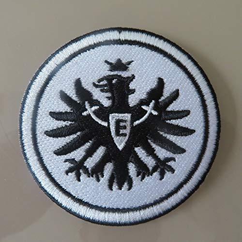 2stk Eintracht Frankfurt Schwarz Aufnäher Patch Football Fussball Soccer Club Iron on bügelbild aufbügler Badge
