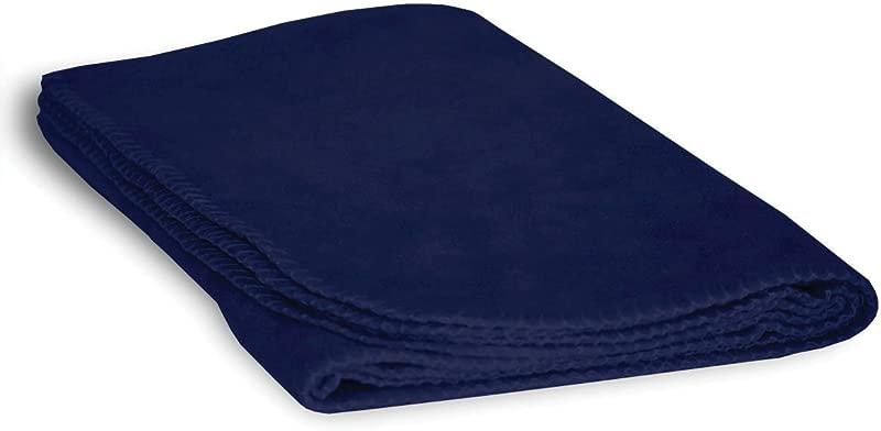Luxurious Cozy Premium Super Soft 30 X 40 Fleece Throw Baby Blanket For Strollers Car Seats Kids Bed Pets True Navy