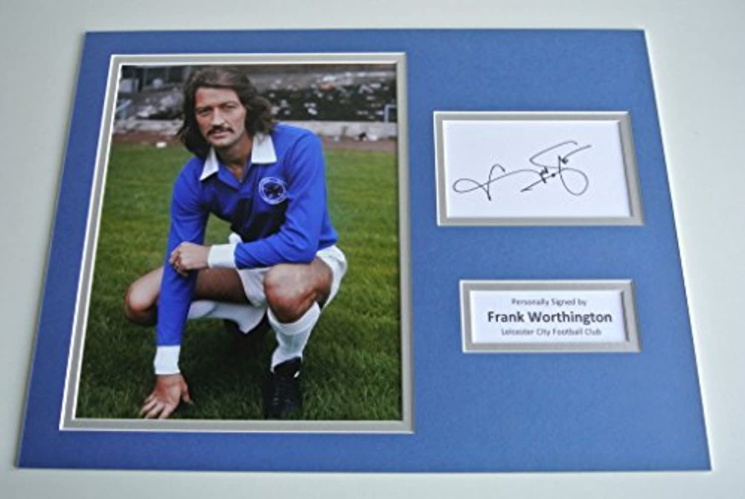Sportagraphs Frank Worthington SIGNED autograph 16x12 photo display Leicester City PROOF COA perfect gift