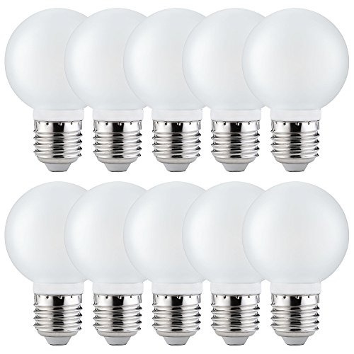 Paulmann Set mit 10 LED-Glühbirnen G60 4 W fast 40 W E27 Satin Warmweiß 2700 K 360 °