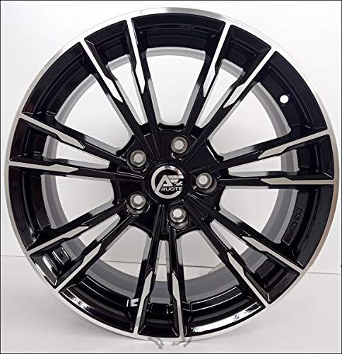 1 Monza Llantas de Aleación Ece 8 18 5X120 30 72,6 Compatible Con BMW Serie 3 4 5 6 X1 X3 X4 Negro Brillante Diamante