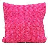 Überwurf, Heimdeko, Flauschiger Fell-Sofakissenüberzug, Plüsch, Luxus-Kissenüberzug (Pink)