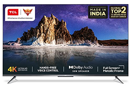 TCL 139 cm (55 inches) AI 4K Ultra HD Certified Android Smart LED TV 55P715 (Silver) (2020 Model) | With Remote Less Voice Control
