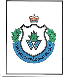 1983-84 Kitchener Rangers Police Waterloo Regional Logo SGA OHL Card #23 Hockey
