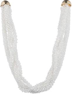 Anne Klein Collar de Mujer Color Blanco -Aleación con Acero Inoxidable - Joyería Oficial