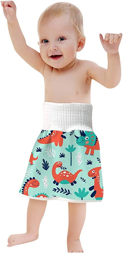 VBNG Cotton Baby Training Skirt Cloth Sleeping Bed 2 in 1 Absorbent Diaper Skirt