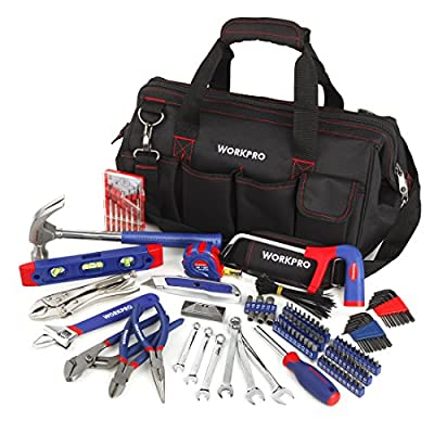 WORKPRO 156-Piece Home Repair Tool Set - Daily Use Hand Tool Kit with Wide Open Mouth Tool Bag - Durable, Long Lasting Tools - Perfect for DIY, Home Maintenance by Hangzhou Great Star Industrial Co.,LTD.