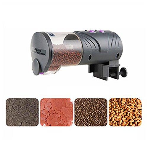 SODIAL Automatique de Poissons Feeder Distributeur Alimentation Pratique Feeders Timer Multi-Fonctionnels pour Aquarium et Fish Tank