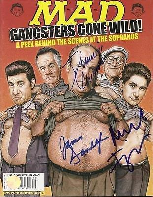 MAD MAGAZINE signed THE SOPRANOS gandolfini, imperioli, chianese 10/2000 - Autographed MLB Magazines