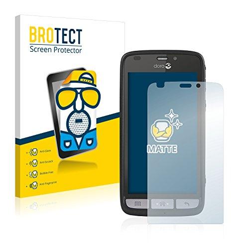 BROTECT 2X Entspiegelungs-Schutzfolie kompatibel mit Doro Liberto 820 Bildschirmschutz-Folie Matt, Anti-Reflex, Anti-Fingerprint