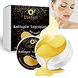 O3 LolaGold - Almohadillas para los ojos, 60 unidades, anticolágeno y antiojeras, incluye Instrucciones de uso en alemán // Parches de Collagen Eye