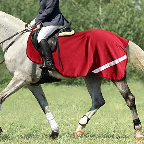 Harrison Howard Acclimate fleece och nät häst övning ark Hi-Viz tävling matta rosenröd