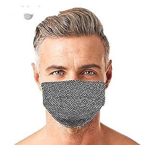 GGSEU Stoffmasken Mundschutz Maske Stoff Mund Nasen Schutzmaske Mund und Nasenschutz Maske waschbar groß (FLIESE)