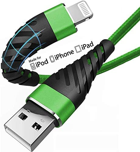 Short iPhone Charger Cable 6 inch for Apple MFi Certified 2 Pack CyvenSmart Lightning Cable product image