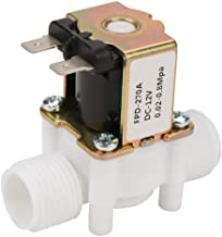 SANON NC Plastic Electrical Inlet Solenoid Water Valve for Water Dispense 12V G1/2