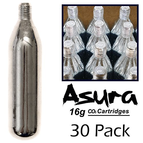 Asura 16 Gram CO2 Threaded Cartridges 30 Count
