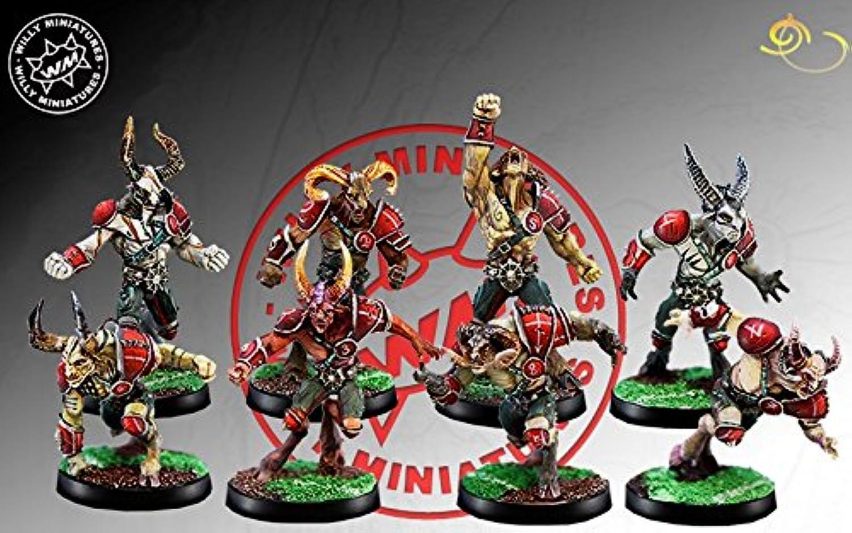 Willy Miniatures Chaos Beastmen x 8 Miniatures