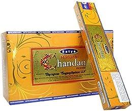 Satya Natural Series - Chandan - 180 Gram Bulk Box - Premium Incense Sticks