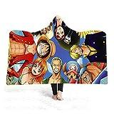 QPY - Coperta con cappuccio e mantello, con stampa creativa, con cappuccio, 14-200 x 150 cm