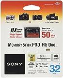 Sony MSHX32B Memory Stick PRO-HG DUO HX 32 GB, Nero...