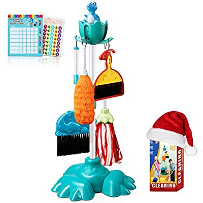BROADREAM Kids Cleaning Set, Kids Broom Set for 3 4 5 6 Years Old Boys and Girls, Kid-Sized Cleaning Toys Christmas Stocking Stuffers Birthday Gifts for Toddlers & Preschoolers by BROADREAM Technology