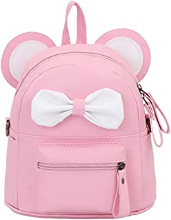 Cute Bowknot Leather Daypack Kids Girls Mini Backpack Shoulder Bag Satchel