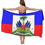Ideal Gift - Women Fashion Elegant Shawl Wrap Summer Vacation Beach Towels Chiffon Scarf Bikini Swimsuit Sarong Wrap Swimwear Cover Up (Haitian Flag)