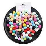 15mm Perlas de silicona flojo redondo Orgánica joyería de enfermería para la...