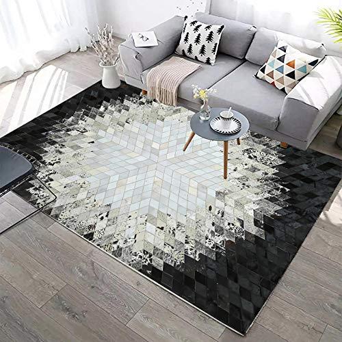 DLSM Mode Licht einfache abstrakte Bequeme atmungsaktive rutschfeste Wohnzimmer Home Decoration Teppich-160 x 230 cm