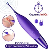 High Frequency Small Powerful G Spot Clit Vibrator Clitoral Vibrators for Women with Whirling Motion Quick Orgasm,Orlupo Personal Massager Vaginal Stimulator Toys, Adult Sex Toys for Women and Couples