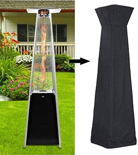 LAZNG Cubierta para calentador de patio con cremallera, tela Oxford impermeable 210D, a prueba de polvo y a prueba de viento con ventilación de aire (color: negro, tamaño: 81,5 x 225 cm)