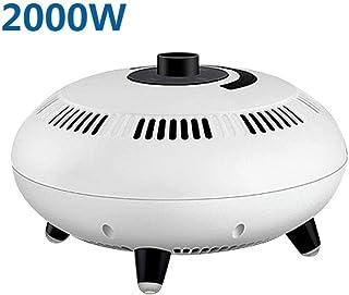 GYF Calefactor eléctrico Círculo de Calor del Calentador de Espacio de cerámica con Control Remoto - Características Amplia Calor Barriendo a Warm Habitaciones Grandes (Color : A)