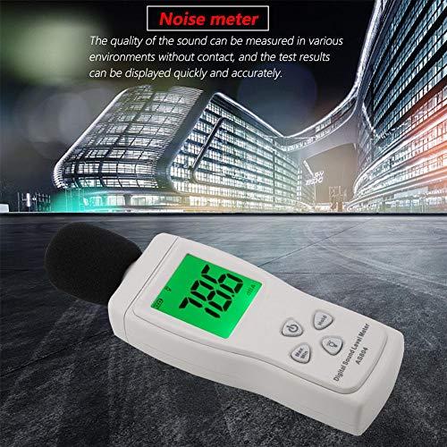 Pangding Stagione Scolastica Fonometro, AS804 Fonometro Digitale Test 30-130dBA