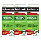 Robitussin Robitussin Adult Maximum Strength Cough + Chest Congestion Dm Max, 3 Pack (4 Fl. Oz. Bottle), 12 Fluid Ounce