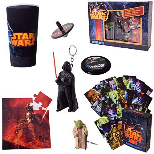 TE-Trend 53-Teiliges Star Wars Set Figuras de Acción Juego Kit de Juego Llavero Taza Juego de Cartas Multicolor