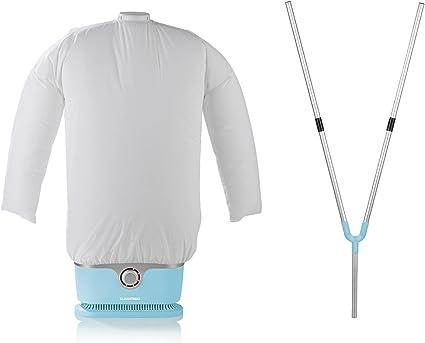 CLEANmaxx 07252 Planchas de camisas, plástico, Azul Claro incluye pantalón