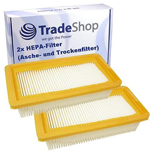 2x Flachfaltenfilter/Lamellenfilter/HEPA-Filter für Kärcher AD 2 AD 3 AD 3 Premium Fire Place AD 3.000 EU-I AD 3.000 EU-II AD 3.000 CH AD3.200 CH AD3.200 CN AD3.200 EU-I/EU-II AD 4 Premium 6.415-953.0