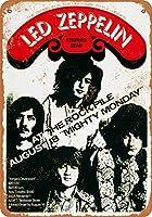 Shimaier 20×30cm 金属ブリキ看板ホーム装飾壁アート 1969 Led Zeppelin in Toronto