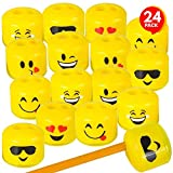 Best Crayon Sharpeners - ArtCreativity Emoticon Sharpeners for Kids, Bulk Pack of Review