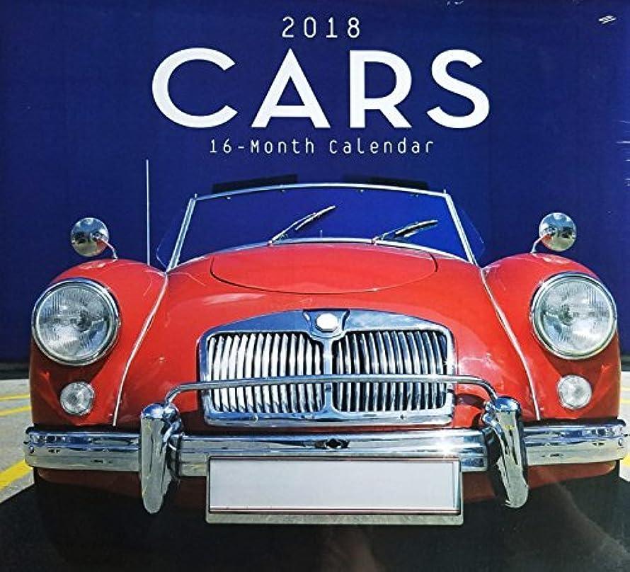 薬理学誕生日サーバ2018 16-Month Cars Wall Calendar [並行輸入品]