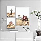 Cqzk Landschaftsdekor Reise Poster Arizona Wüste Leinwand