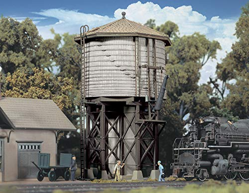 Walthers Cornerstone Series Kit HO Scale Wood Water Tank Gray