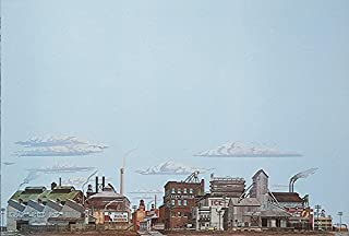 Walthers, Inc. Instant Horizons Freight Yards Background Scene, 24 X 36 60 x 90cm